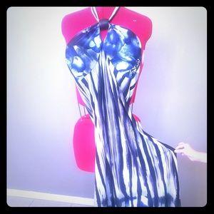 GORGEOUS BLUE & PURPLE MAXI DRESS!!